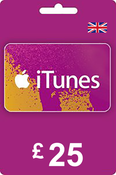 The cheapest iTunes Gift Card 25 GBP UK in United Kingdom