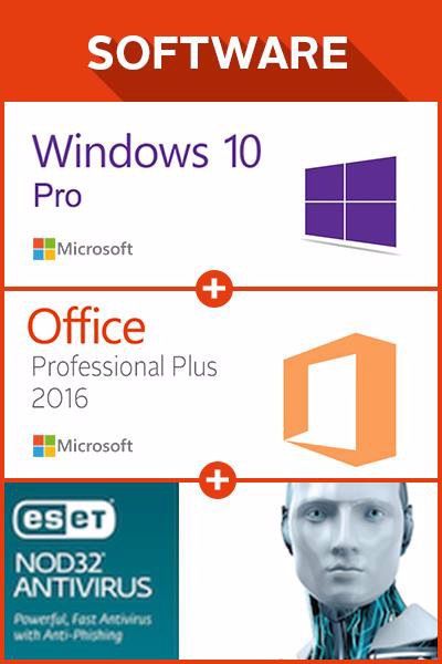 The cheapest Win 10 Pro + MS Office Pro Plus 2016 1 user + ESET 12