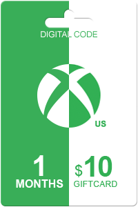 Xbox Live Gold 1 month + 10 USD