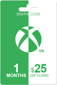 Xbox Live Gold 1 month + 25 USD