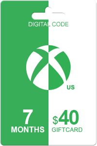 Xbox Live Gold 7 months + 40 USD