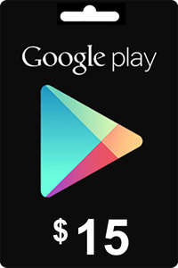 Google Play Gift Card 15 USD