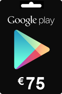 Google Play Gift Card 75 EURO