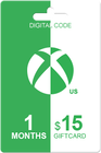 Xbox Live Gold 1 month + 15 USD