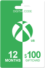 Xbox Live Gold 12 months + 100 USD