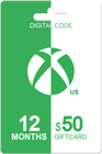 Xbox Live Gold 12 months + 50 USD