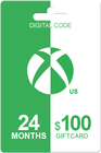 Xbox Live Gold 24 months + 100 USD