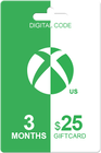 Xbox Live Gold 3 months + 25 USD