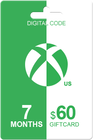 Xbox Live Gold 7 months + 60 USD