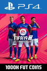 FIFA 19 - 1000k FUT Coins (Comfort Trade) PS4